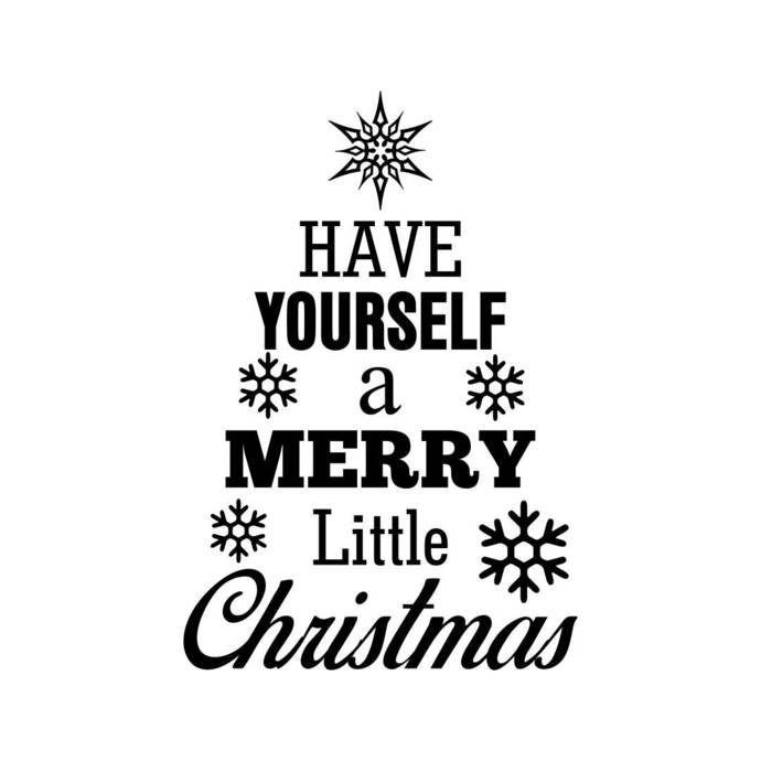 Have yourself a merry little christmas Graphics SVG Dxf EPS Png Cdr Ai Pdf  Vector Art Clipart instant download Digital Cut Print File Cricut.