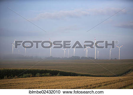 "Stock Photography of ""Views of a wind farm near Nauen on an autumn."