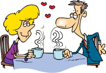 Royalty Free Clip Art Image: Couple in Love. Man and Woman on a.