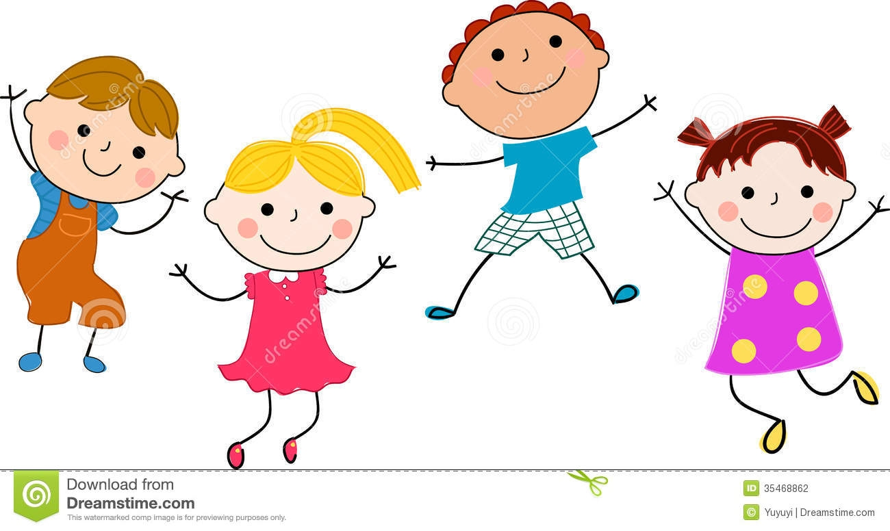 Clipart of kids having fun.