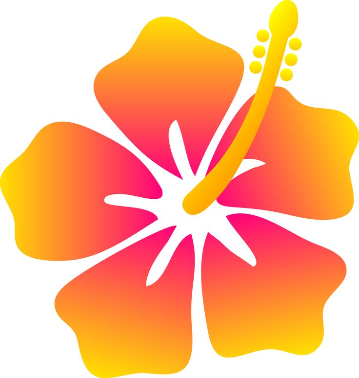Hawaii Flowers Clip Art.