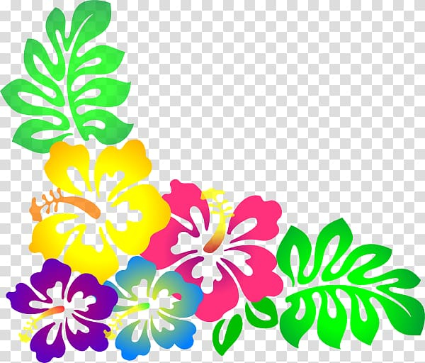 Multicolored flowers , Hawaiian Flower , Hawaiian Background.