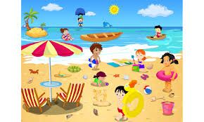 Image result for hawaii beach scene clipart.