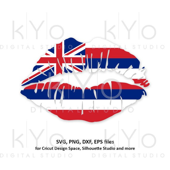 Hawaii Girl Lips svg Hawaiian Flag Hawaiian Islands Honolulu Clipart png  dxf eps Vector svg Cut Cutting files for Cricut Silhouette.