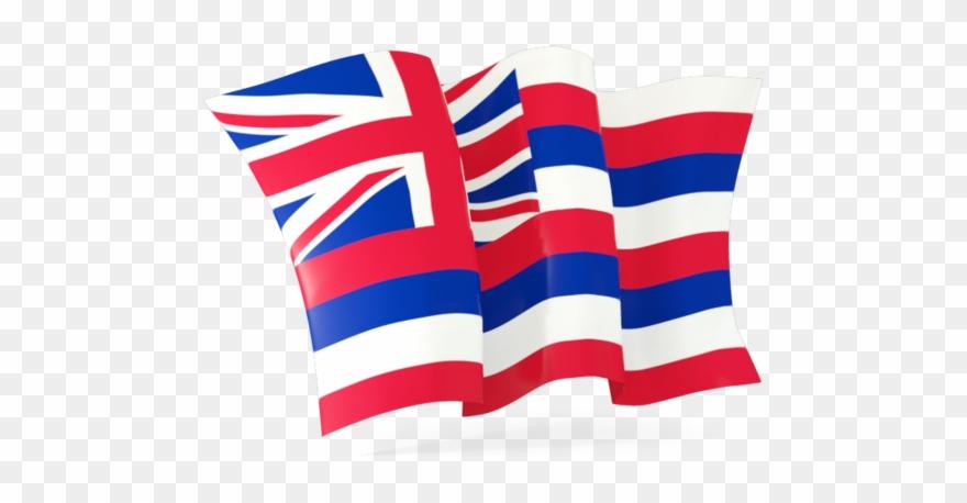Hawaiian Flag Waving.
