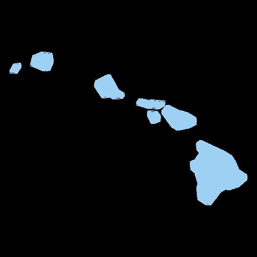 Hawaii state plain map.