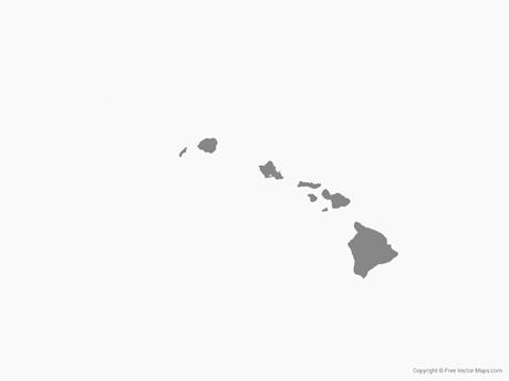 Vector Map of Hawaii.