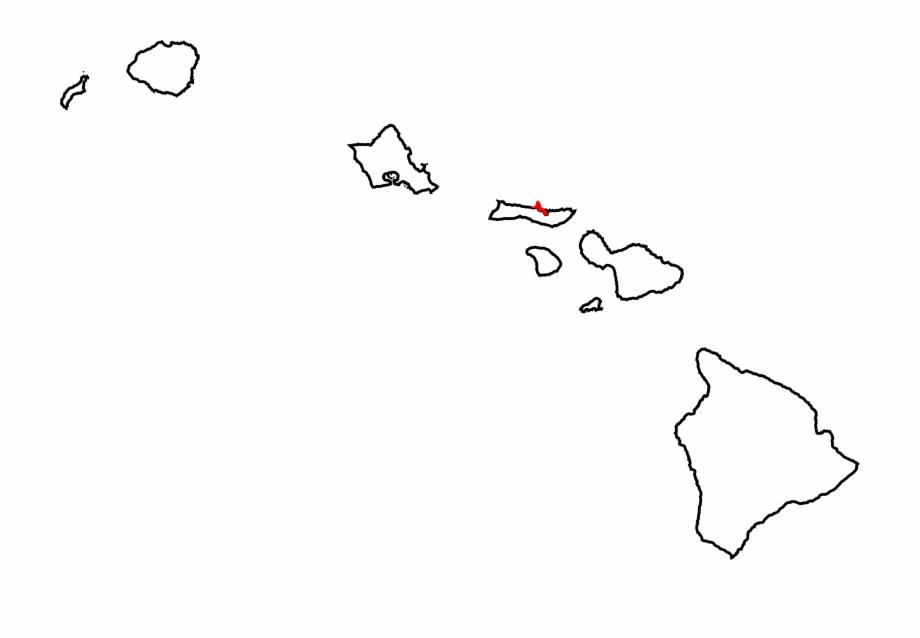 Map Of Hawaii Highlighting Kalawao County.