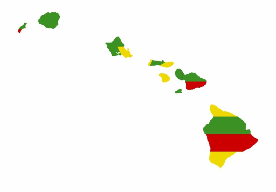 Hawaiian Islands Vector.