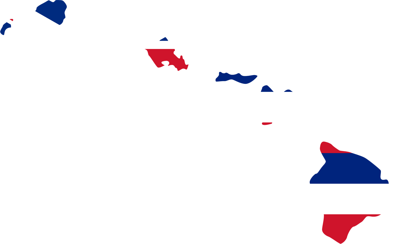 Hawaii Flag Map • Mapsof.net.