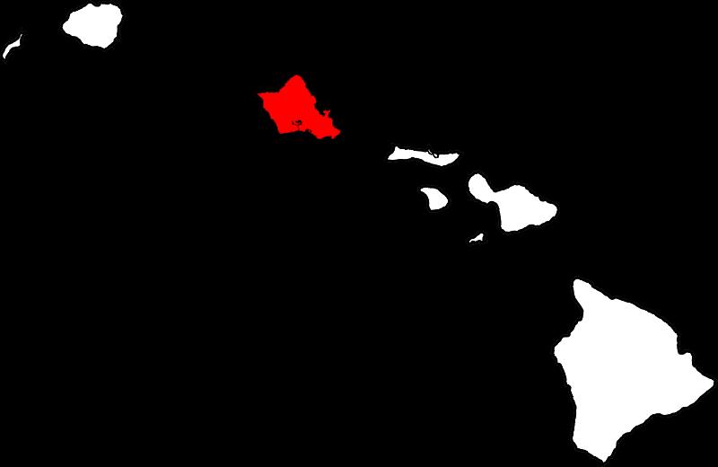 File:Map of Hawaii highlighting Honolulu County.svg.