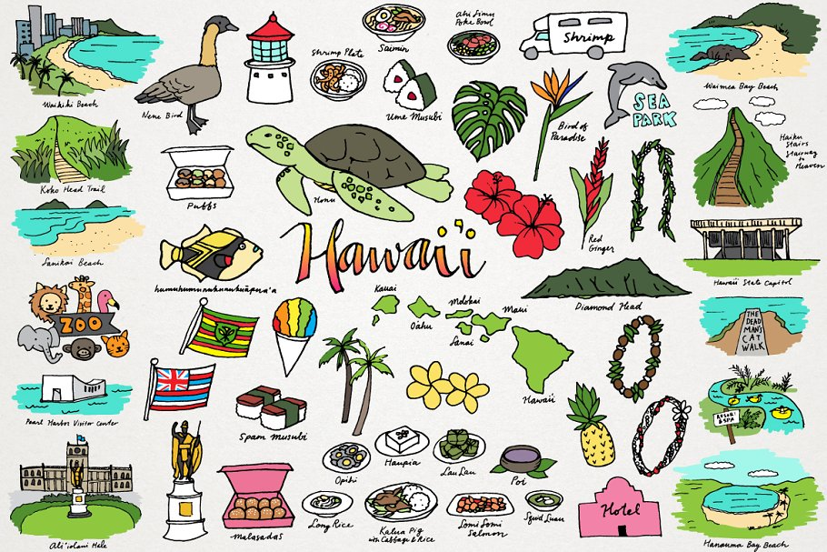 Hawaii Clipart.