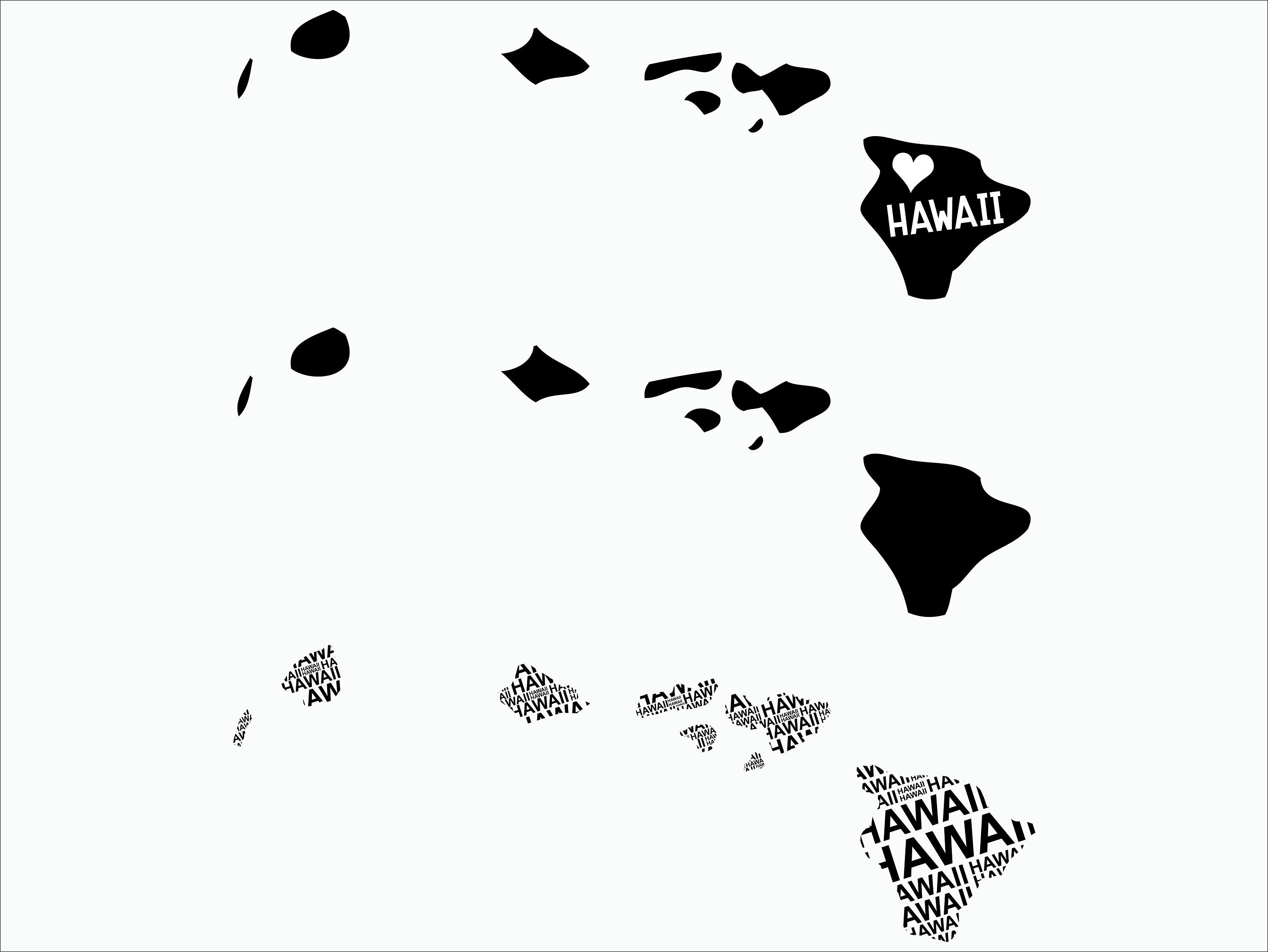 Hawaii SVG/ Hawaii clipart/ Hawaii state svg/ Cricut / printable /  silhouette / vinyl decal / vector files for cutting machines.