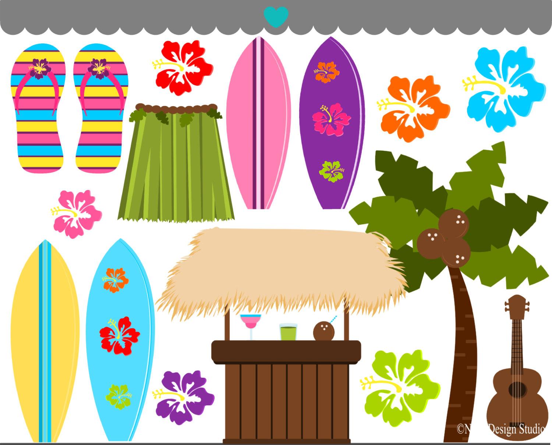 Beautiful Hawaiian Cliparts.