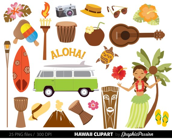 Hawaiian Luau Party clip art, Luau clipart Luau clip art Hawaii.