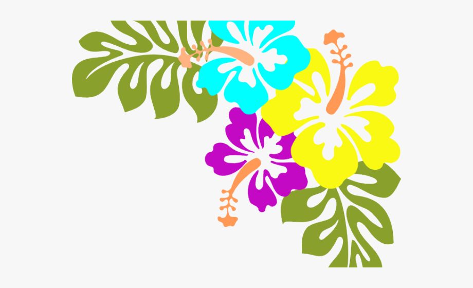 Hawaii Clipart Colorful Forest.