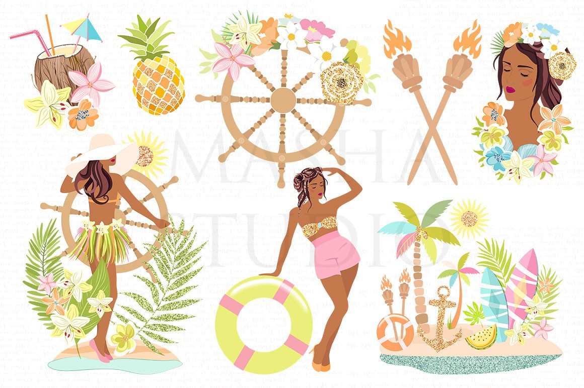 African American clipart ALOHA HAWAII CLIPART with.