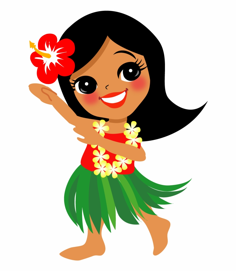 Free Hula Girl Clipart Black And White, Download Free Clip.