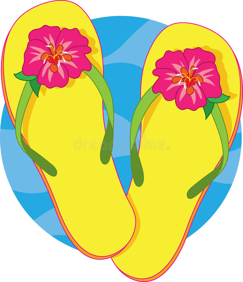 Flip Flops Stock Illustrations.