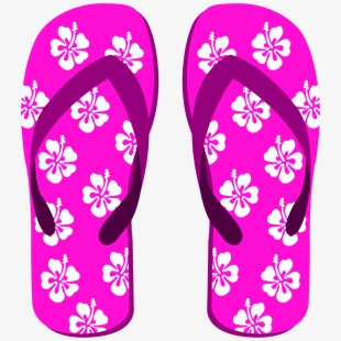 Luau Clipart Slipper Hawaiian.