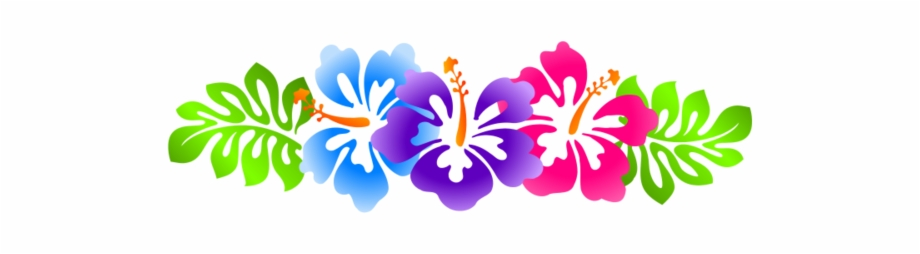 Hawaiian Flowers Border Clip Art, Transparent Png Download For Free.