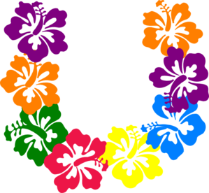 Hawaiian Flower Clip Art Borders.