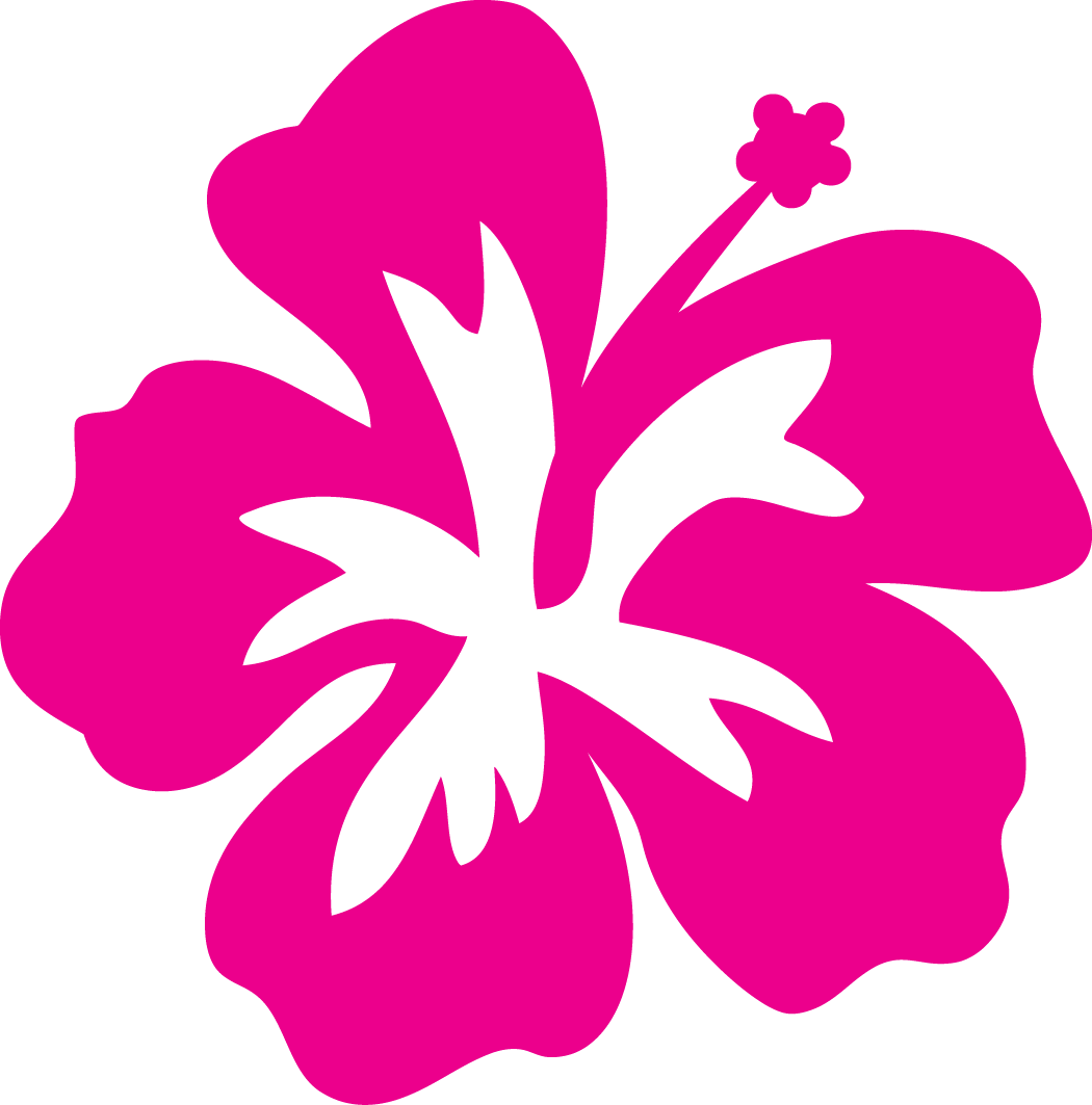 Hawaiian flower clipart outline.