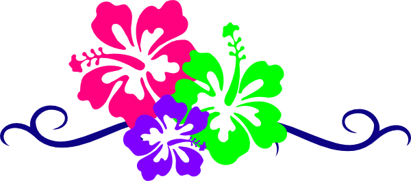 Hawaiian flower clip art borders free clipart images.