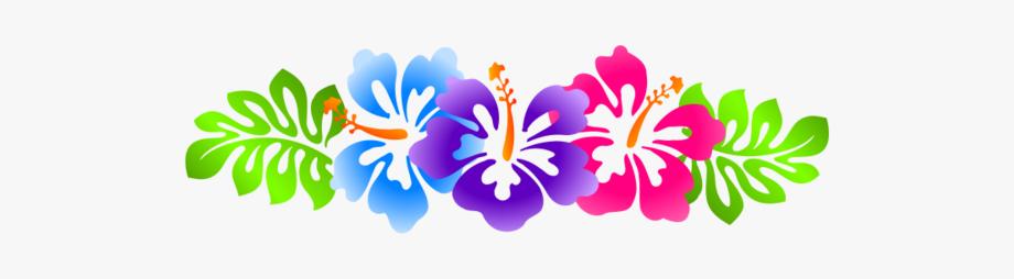 Luau Clip Art Borders Free Hibiscus Line.