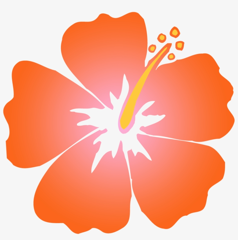28 Collection Of Orange Hibiscus Clipart.