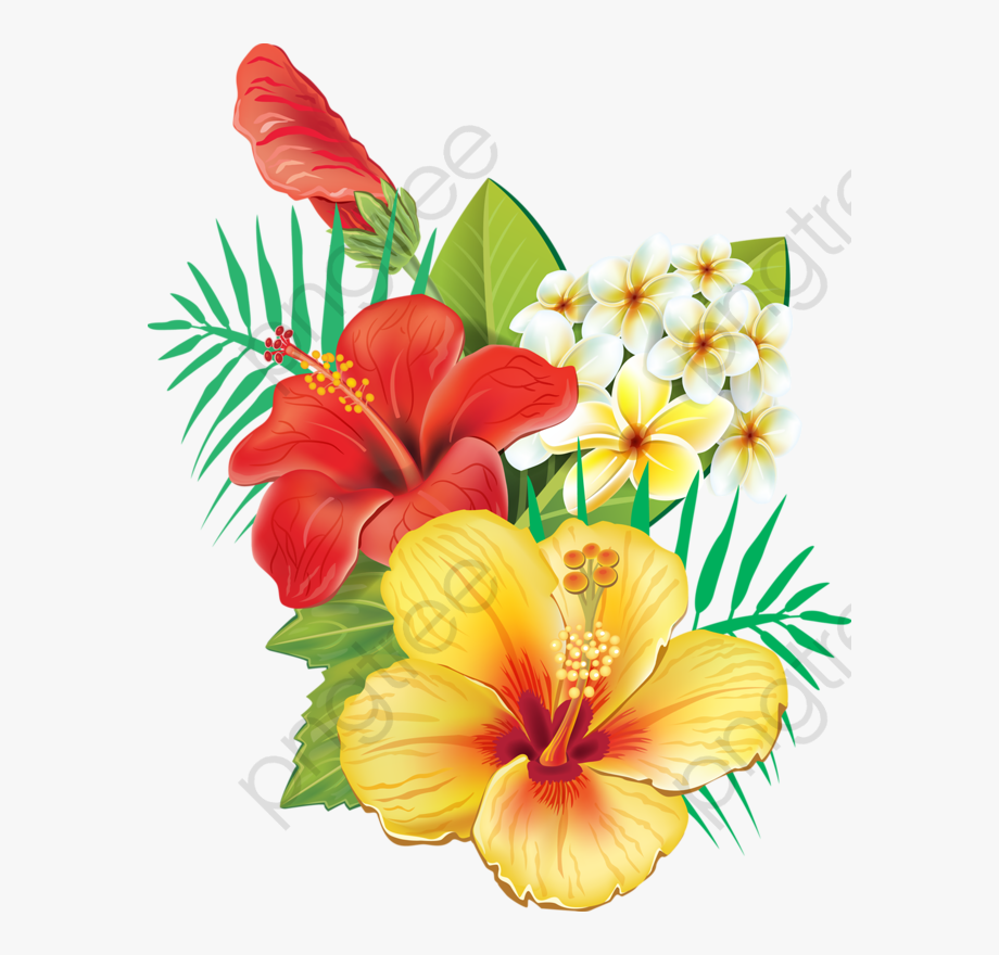 Hawaiian Flower Clipart Small.