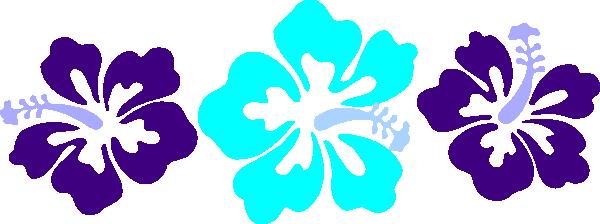 Pink Flower Border Clip Art, Hawaiian Flower Free Clipart.