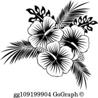 Hawaiian Flowers Clip Art.
