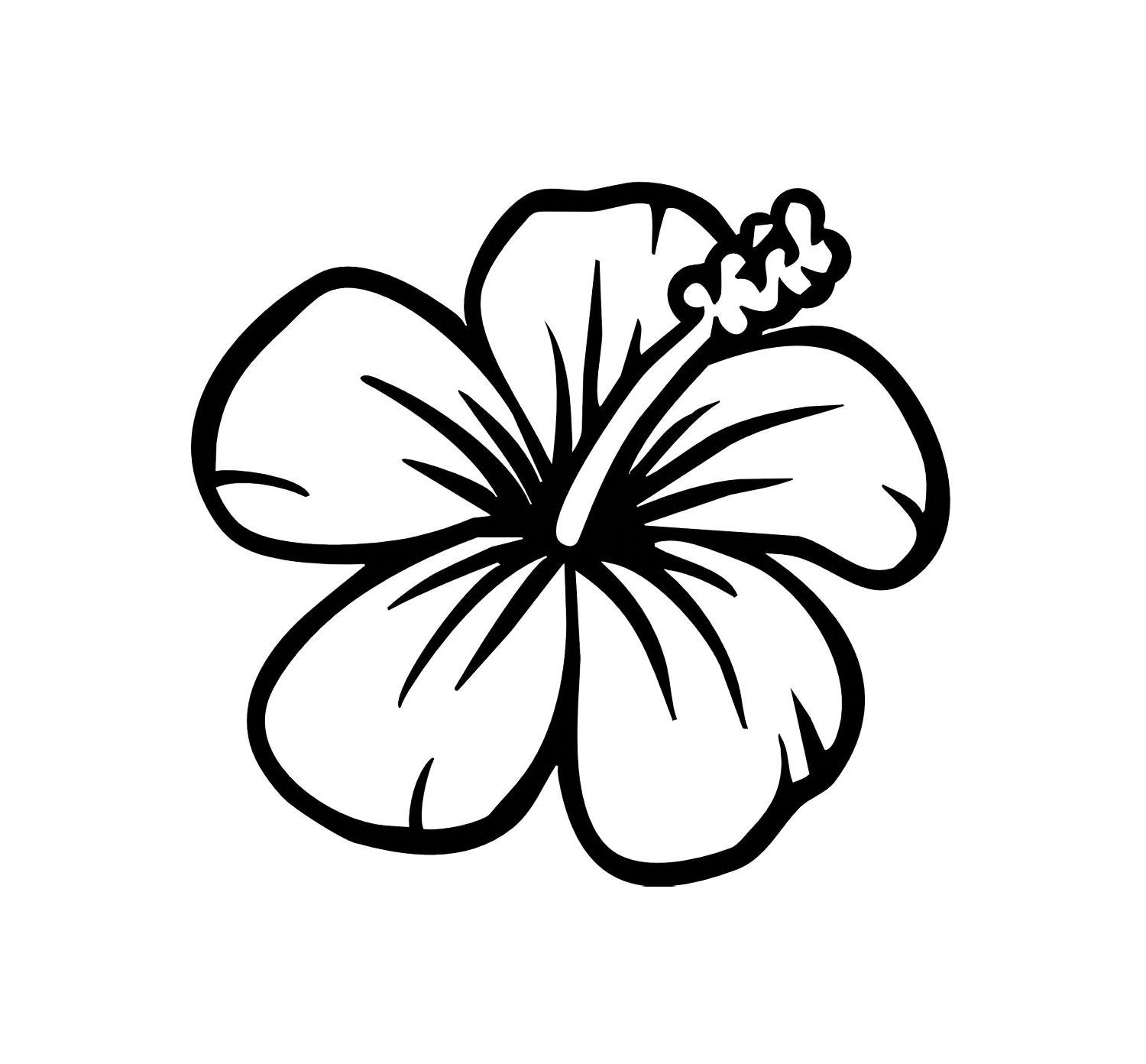 Free Hawaiian Flower Clipart Black And White, Download Free.