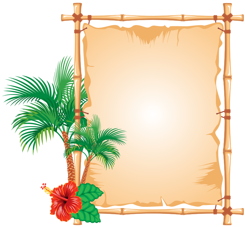 Hawaiian clipart frame, Hawaiian frame Transparent FREE for.