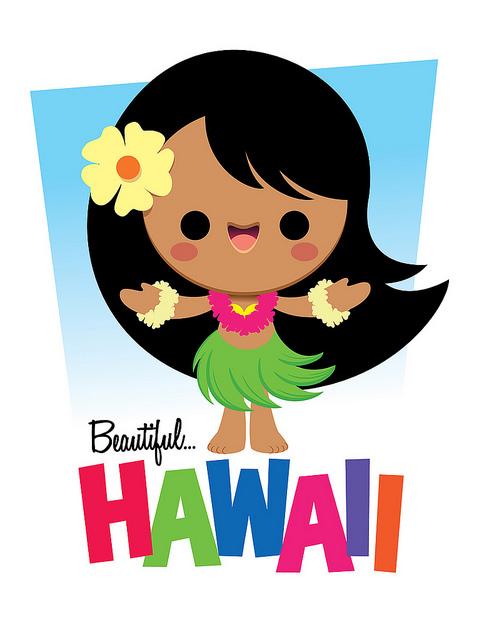 Hawaiian Girl Cartoon.