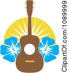 Hawaiian Guitar Clipart.