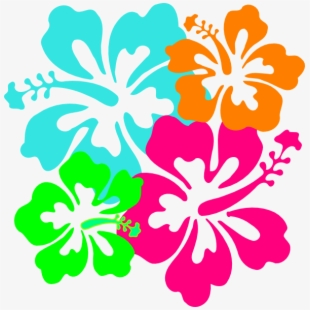 Hibiscus Teal Amp Green Clip Art.