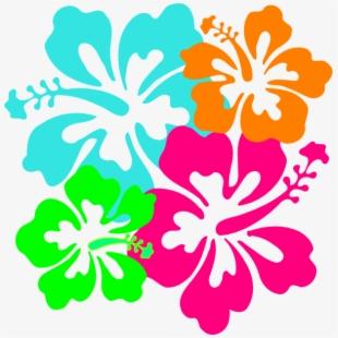 Hibiscus Teal Amp Green Clip Art.
