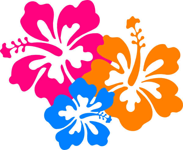 Hawaiian Flower Clip Art.