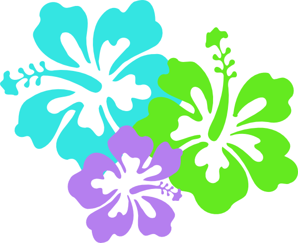 Hawaiian hibiscus Flower Clip art.