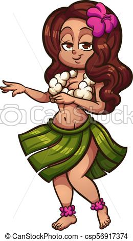 Hawaiian hula dancer.