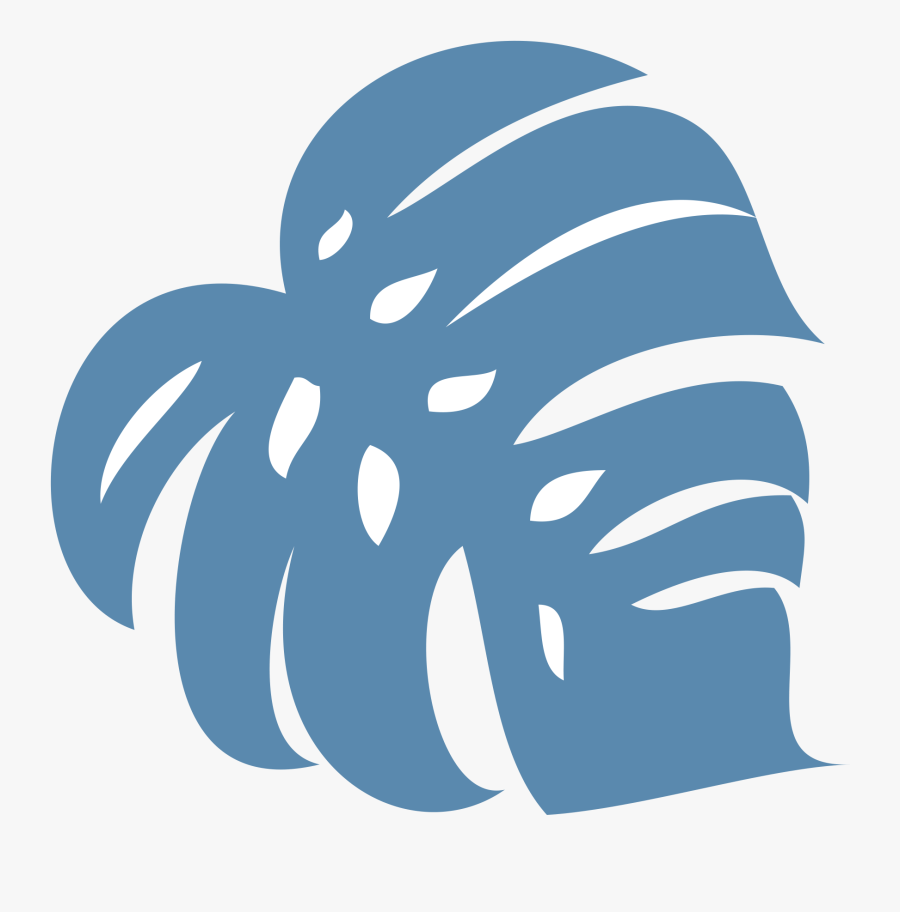 Hawaiian Leaf Png Blue , Free Transparent Clipart.