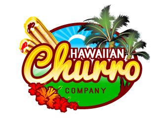 Hawaiian Churro Comapny logo design.