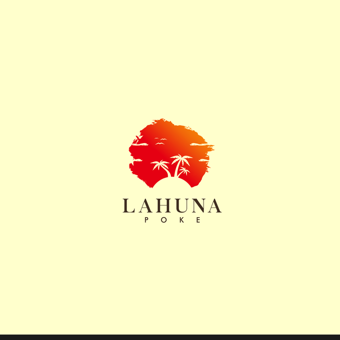 Create a Hawaiian themed logo for a restaurant.