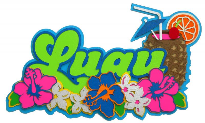 Luau clip art background.