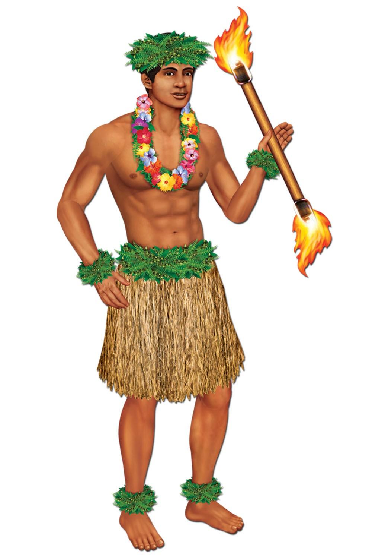 Hawaiian Attire Cliparts.