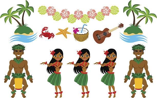 Best Hawaiian Man Illustrations, Royalty.
