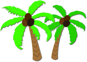 Palm Trees Clipart Image.