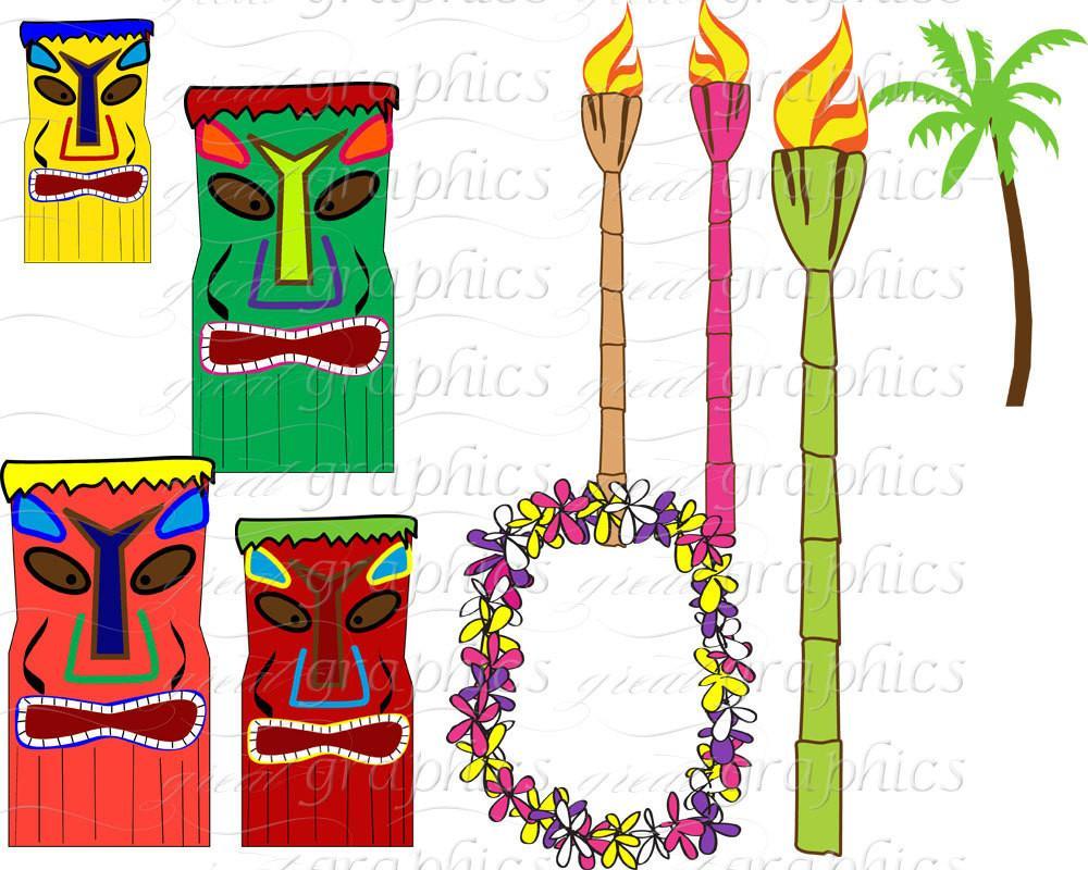 Hawaiian Luau Digital Paper Luau Party Clip Art Hawaii Luau Clipart  Hawaiian Party Digital Paper Printable.